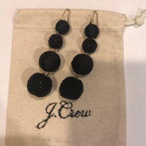 J Crew Black Drop Earrings